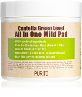 Purito Centella Green Level dischetti esfolianti viso