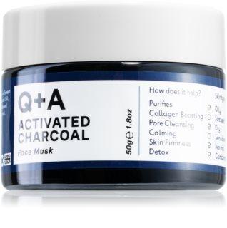 Q+A Activated Charcoal reinigende Maske für das Gesicht mit Aktivkohle