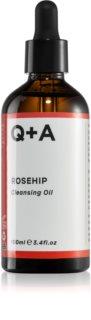 Q+A Rosehip успокаивающее очищающее масло
