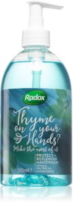 Radox Thyme on your hands? sabonete líquido com ingrediente antibacteriana