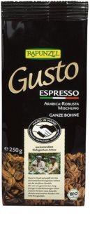 Rapunzel Gusto Espresso zrnková káva, směs bio arabiky a robusty
