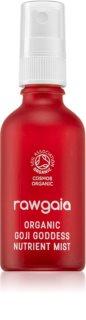RawGaia Organic Goji Goddess Spray facial, cu un efect de revitalizare