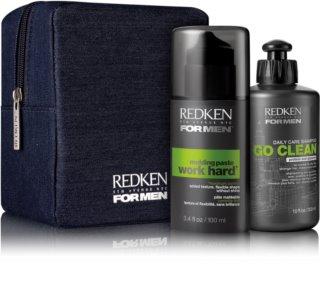 Redken For Men Go Clean kozmetični set I. (za suhe in normalne lase) za moške