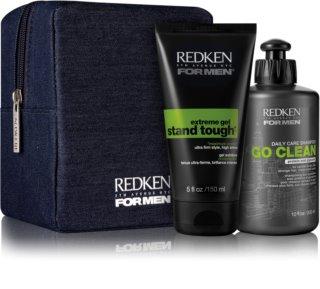 Redken For Men Go Clean козметичен комплект II. (за суха и нормална коса) за мъже
