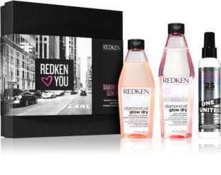 Redken Diamond Oil Glow Dry coffret (para cabelo mate)