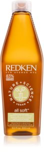 Redken Nature+Science All Soft shampoo idratante per capelli rovinati e secchi