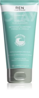 REN ClearCalm  Clarifying Clay Cleanser nettoyant peaux sensibles
