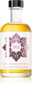 REN Moroccan Rose upokojujúci kúpeľový olej s vôňou ruží