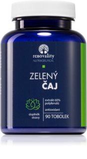 Renovality Zelený čaj 60% polyfenolů doplněk stravy  s revitalizačním účinkem