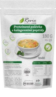 Revix Proteinová polévka s kolagenovými peptidy instantní polévka s bílkovinami a kolagenem