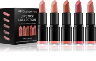 Revolution PRO Lipstick Collection Set med läppstift 5 st
