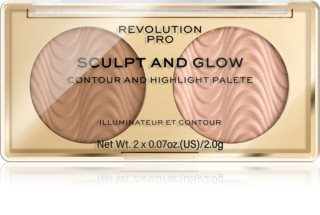 Revolution PRO Sculpt And Glow Púderes highlight és kontúr paletta