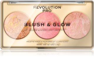 Revolution PRO Blush & Glow Palette für das komplette Gesicht