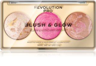 Revolution PRO Blush & Glow палетка для полного макияжа лица