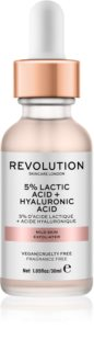 Revolution Skincare 5% Lactic Acid + Hyaluronic Acid Scrub προσώπου