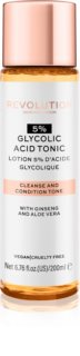 Revolution Skincare 5% Glycolic Acid Tonic tisztító arc tonik A.H.A.-val (Alpha Hydroxy Acids)