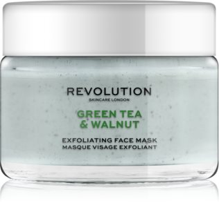 Revolution Skincare Green Tea & Walnut reinigende Exfoliationsmaske für das Gesicht