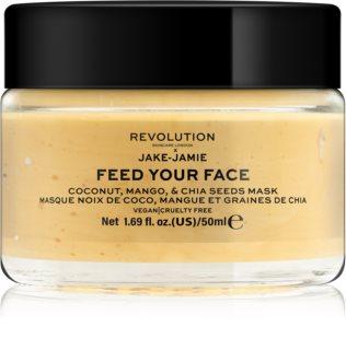 Revolution Skincare X Jake-Jamie Coconut, Mango&Chia Seed posvetlitvena maska za obraz