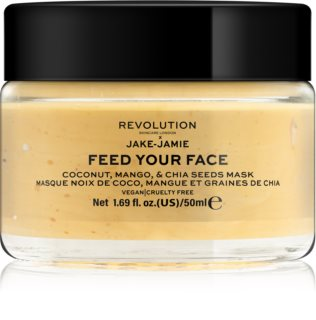 Revolution Skincare Jake-Jamie Coconut, Mango & Chia Seed élénkítő arcmaszk