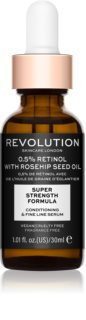Revolution Skincare 0.5% Retinol Super Serum with Rosehip Seed Oil хидратиращ серум против бръчки