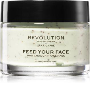 Revolution Skincare X Jake-Jamie Mint Choc Chip máscara refrescante e calmante com hortelã-pimenta