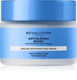 Revolution Skincare Boost Anti Blemish Azelaic Acid beruhigende und hydratisierende Creme Für hyperpigmentierte Haut