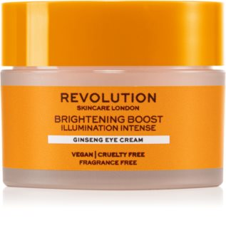Revolution Skincare Boost Brightening Ginseng crème illuminatrice yeux