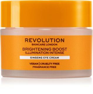 Revolution Skincare Boost Brightening Ginseng нежен очен крем