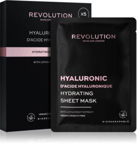 Revolution Skincare Hyaluronic Acid Tuchmasken-Set für intensive Hydratisierung
