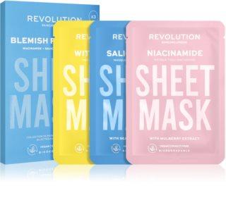 Revolution Skincare Biodegradable Blemish Prone Skin комплект платнени маски (за мазна и проблемна кожа)