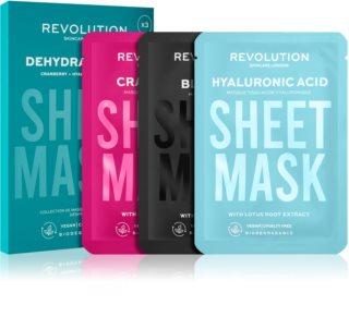 Revolution Skincare Biodegradable Dehydrated Skin комплект платнени маски за дехидратирана суха кожа