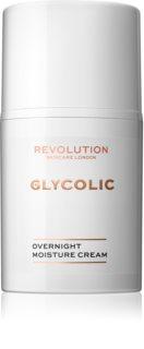 Revolution Skincare Glycolic Acid Glow cremă de noapte cu efect de iluminare și de regenerare