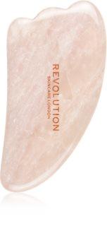Revolution Skincare Gua Sha Rose Quartz akcesoria do masażu do twarzy