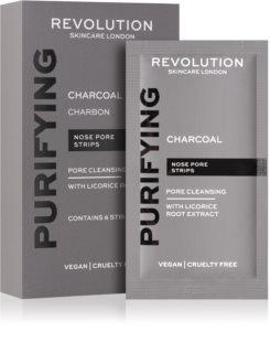 Revolution Skincare Purifying Charcoal čisticí náplast na zanešené póry na nose s aktivním uhlím