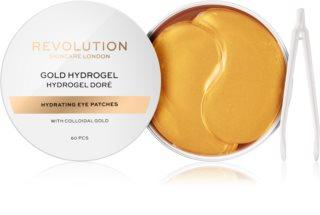 Revolution Skincare Gold Hydrogel μάσκα υδρογέλης  για γύρω από τα μάτια με χρυσό