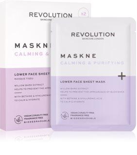 Revolution Skincare Maskcare Maskne Calming & Purifying дълбоко регенерираща маска за чувствителна и раздразнена кожа