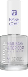 Rimmel Nail Nurse Base en Topcoat Nagellak  5in1