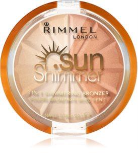 Rimmel Sun Shimmer 3 in 1 Shimmering Bonzer Bronzer skimmer