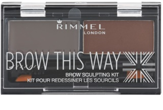 Rimmel Brow This Way paletka do brwi