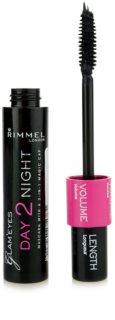 Rimmel Glam´ Eyes Day 2 Night máscara para alargar y densificar las pestañas 2 en 1