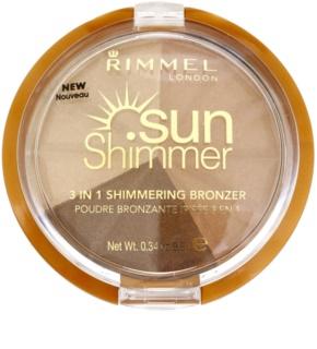 Rimmel Sun Shimmer 3 in 1 Shimmering Bonzer glitzerndes Bronzepuder