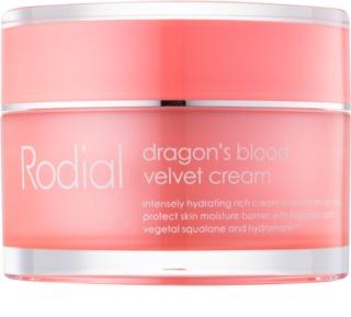 Rodial Dragon's Blood Velver Cream krem do twarzy z kwasem hialuronowym do skóry suchej