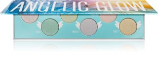 Rude Cosmetics Angelic Glow paleta sjenila za oči i highlightera