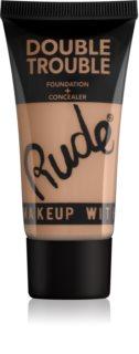 Rude Cosmetics Double Trouble кремовый корректор и тональная основа 2в1