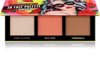 Rude Cosmetics NoFilter 3D Face Palette kontúrovacia paletka na tvár