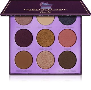 Rude Cosmetics Cocktail Party Collection Purple Flame paleta očních stínů