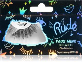 Rude Cosmetics Essential Faux Mink 3D Lashes Liimattavat Silmäripset