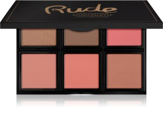 Rude Cosmetics Face Palette Undaunted палитра ружове за контуриране