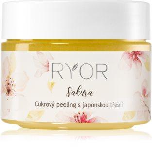 RYOR Sakura esfoliante de açúcar para nutrir e limpar a pele com suavidade