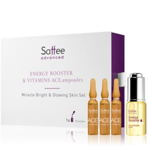 Saffee Advanced Bright & Glowing Skin Set coffret III. para mulheres